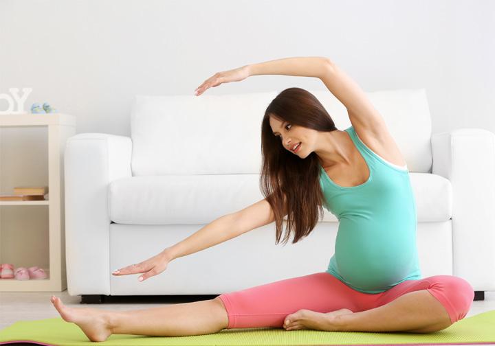 Embarazada… ¡y en movimiento!